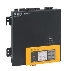 The ground fault monitoring relay Bender NGRM700 with the FP200 detachable HMMI