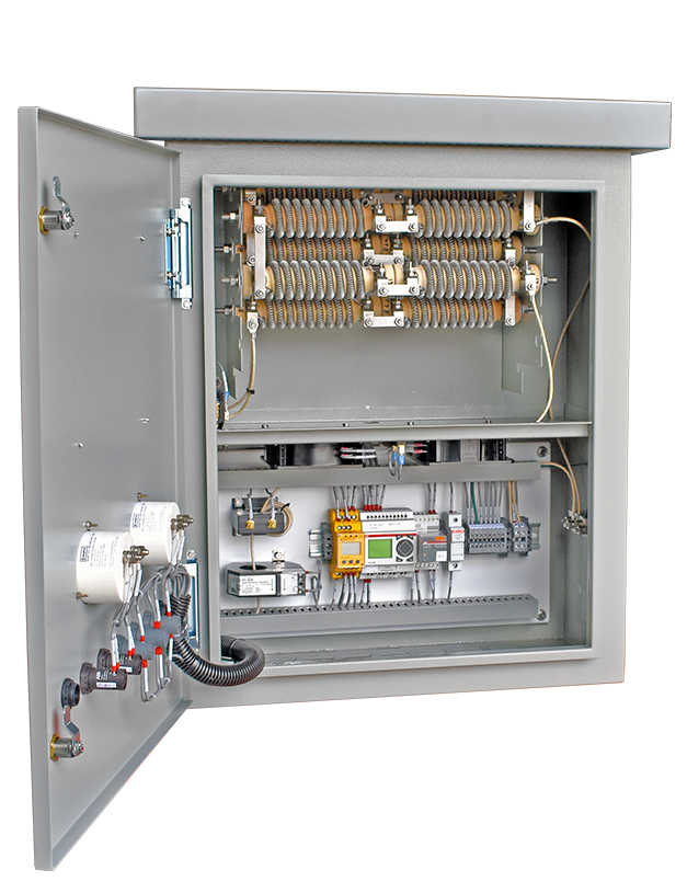 An open panel view of the Basic HRG in an HR1 enclosure