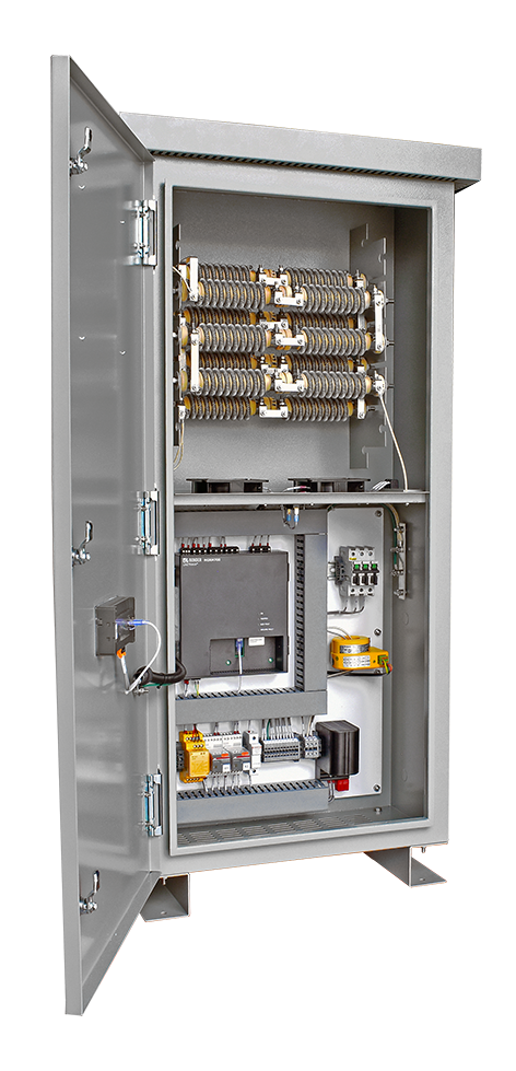 An open panel view of the Intermediate HRG in an HR2 enclosure