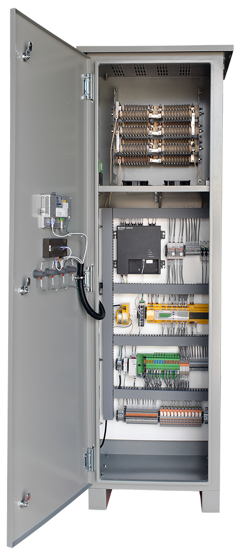 An open panel view of the Flagship HRG in an HR4 enclosure